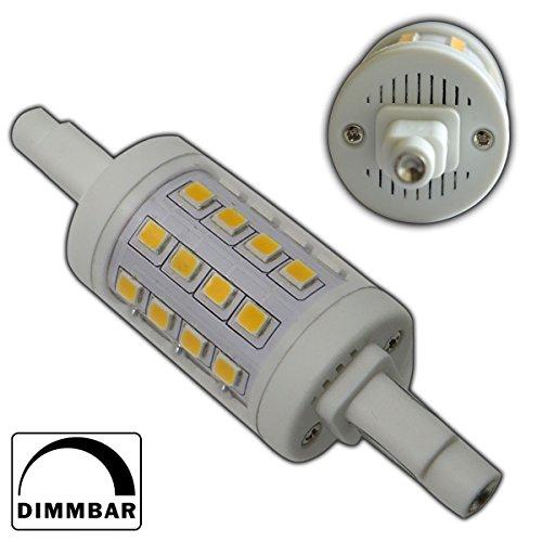 1x-R7s-LED-Strahler-78mm-rund-6-Watt-dimmbar-32x-SMDs-warmwei-Leuchtmittel-Lampe-Halogen-j78-Fluter-Standleuchte-Brenner-Scheinwerfer