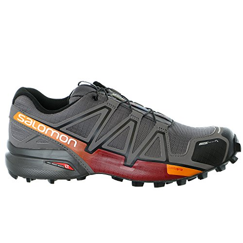 Salomon Speedcross 4 CS Trail Running Shoe - Men's Autobahn/Detroit/Orange Rust, US 8.0/UK 7.5 (Speedcross Cs Salomon compare prices)