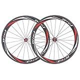 Wiel ® 50 mm de roues carbone route vélo vélo 700C tubulaire roues 3 k