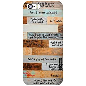 Apple iPhone 5S Back Cover - Wood Art Designer Cases