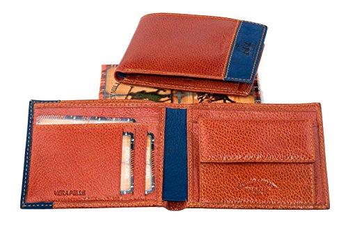 Portafoglio uomo HARVEY MILLER POLO CLUB in pelle arancio con portamonete A3755