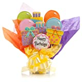 Happy Birthday Cookie Bouquet- 9 Pc Bouquet