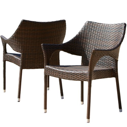 Del Mar Outdoor Wicker Chairs (Set of 2) image