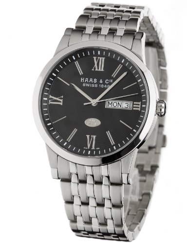 Haas  &  Cie Linus Men's Black Watch ALH396SBA
