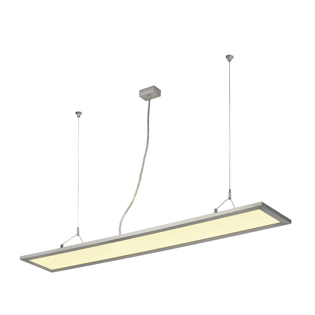 SLV LED Panel Long Pd 116, Rechteckig, Eloxiert, 96 LED, 48 W, 3000K 158532