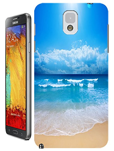 Cell Phone Case Beach Design Beautiful Sunshine Water Trees For Samsung Galaxy Note 3 No.8
