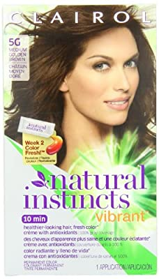 Cheapest Clairol Natural Instincts Vibrant Permanent Hair Color 5g, Golden Brown 1 Kit from Clairol - Free Shipping Available