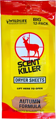 Wildlife Research 580 Scent Killer Autumn Formula Dryer Sheets, 12 Sheets