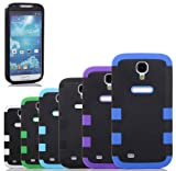 "myLife Black - Black Matte Robot Design (3 Piece Hybrid) Hard and Soft Case for the Samsung Galaxy S4 ""Fits Models: I9500 I9505 SPH-L720 Galaxy S IV SGH-I337 SCH-I545 SGH-M919 SCH-R970 and Galaxy S4 LTE-A Touch Phone"" (Fitted Front and Back Solid Cover Case + Internal Silicone Gel Rubberized Tough Armor Skin)"