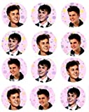 12 Justin Bieber n rice paper fairy cup cake 40mm toppers pre cut decoration