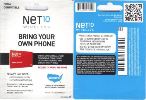Net10 CDMA Activation Kit (Net10 Service Plan Card compare prices)