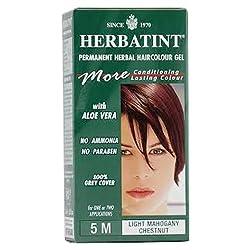 Herbatint Permanent Herbal Haircolour Gel Light Mahogany Chestnut 5 M 4.56 Ounce