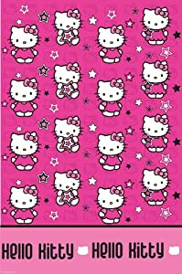 Hello Kitty Stars Party Plastic Table Cover 138 x 183cm