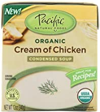 Pacific Natural Foods Organic Cream Of Chicken Condensed Soup 12-Ounce Boxes Pack of 12