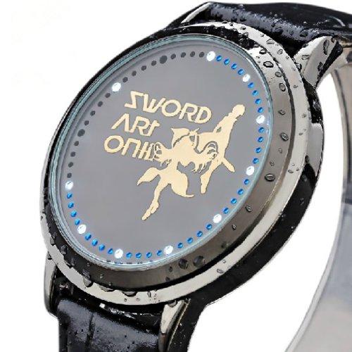 2013ソードアートオンライン(SAO)Sword Art Online グッズ通販 アニメ アスナ キリトキューティーウォッチルフィ LEDが付く タッチ 防水 腕時計