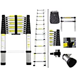 Sotech - New 3.2M Telescopic Ladder With Carry Bag - EN131 Aluminium Foldable Extension Ladder Max. Loading of 150kg