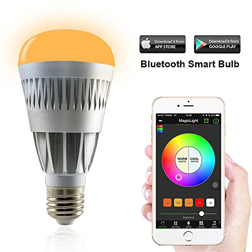 MagicLight Pro Bluetooth Smart LED Light Bulb - Smartphone Controlled Sunrise Wake Up LED Lights - Dimmable Multicolored Color Changing Party Lights Bulb - 10 Watts (80Watts Equivalent) (Led Lightbulb Speaker compare prices)