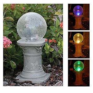 Amazon Com Glass Solar Gazing Ball Landscape Lighting