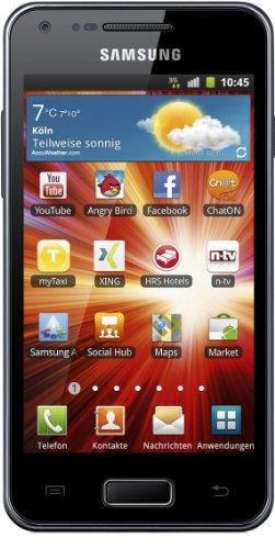 Samsung Galaxy S Advance I9070 Smartphone (10,2 cm (4 Zoll) AMOLED-Touchscreen, 5 Megapixel Kamera, Android 2.3, NFC) metallic-black