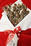 Chocolate Long Stem Rose Bouquet - 1 Dozen, for Valentines Day, Mothers Day, Milk Chocolate