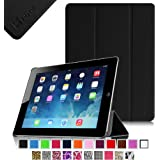 Fintie SmartShell Case for Apple iPad 4th Generation with Retina Display, iPad 3 & iPad 2 Ultra Slim Lightweight Stand (with Smart Cover Auto Wake / Sleep) - Black