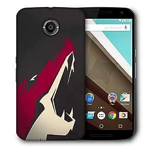 Snoogg Fox Roar Designer Protective Phone Back Case Cover For Motorola Nexus 6