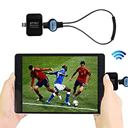 TV Tuner Receiver, Oenbopo Mini Mobile ATSC Digital TV Live Sports Event Micro USB TV Pocket Receiver with OTG for Android Phone&Tablet (No Wifi no GPRS Also Can Watch TV,Main for USA,Mexico,Canada)