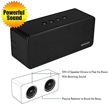DBPOWER 10W Portable Wireless Speakers