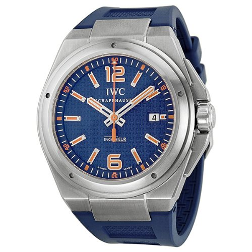 IWC Ingenieur Blue Dial Blue Rubber Automatic Mens Watch IW323603