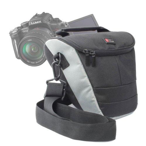 Duragadget Black Water Resistant Nylon Protective Carry Case For Panasonic Lumix Dmc-Fz70, Panasonic Gf5, Panasonic Dmc-Gf5Keb-K Lumix G Compact System Camera With Interchangeable Lens, Fz 48 Ef-K & Dmc-Fz72Eb-K - (16.1Mp, Super Telephoto 60X Optical Zoom