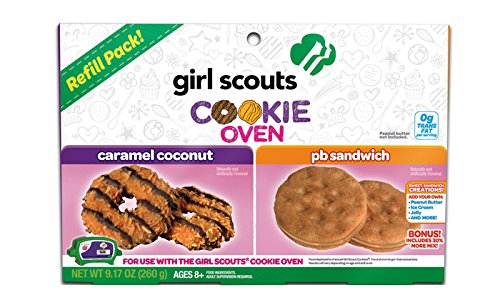 Girl-Scouts-Cookie-Oven-2-Pack-Refill-Kit-Caramel-Coconut-and-Peanut-Butter-Sandwich-Cookies