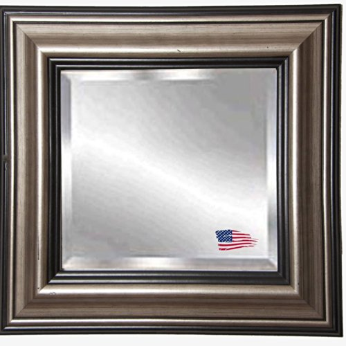 American Made Rayne Antique Silver Beveled Wall Mirror, 41.5 X 35.5 front-874548