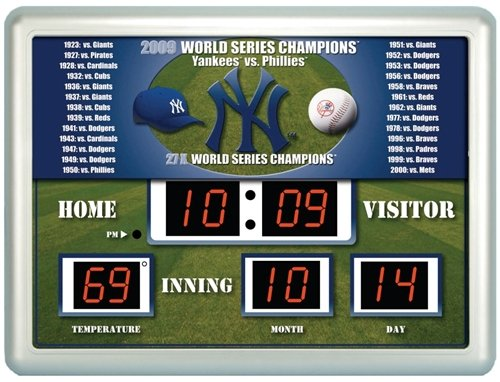 New York Yankees Clock - 14''x19'' Scoreboard at Amazon.com