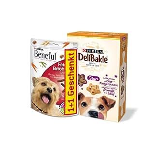 Beneful Hundesnack Hundesnack Feine Belohnung, 126 g + DeliBakie Stars, 320 g, 4 Packungen (4 x 446 g)