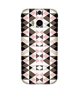 Pink Brown Pattern-1 HTC One M8 Case