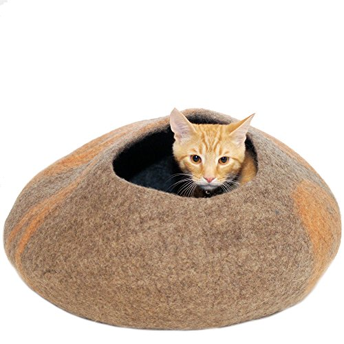 Twin Critters Handcrafted Cat Cave Bed Large Felted