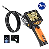 Potensic®Digital EndoscopeBorescope with Waterproof CMOS Cameraand 3.5 inch Built-in Color LCD Screen-9.8 ft/3m Cable, 0.32 inch Camera Diameter, 4 Zoom Options