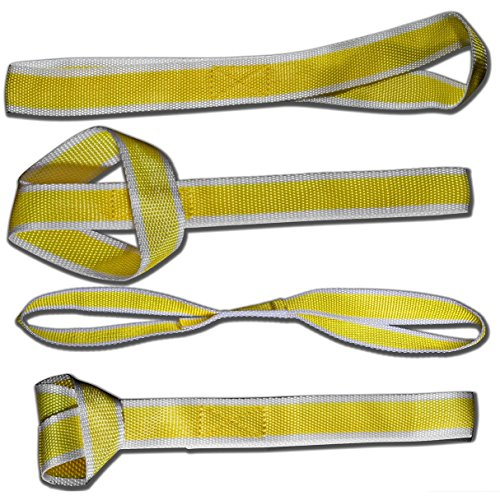 OxGord® American Eagle Soft Loop Tie-Down Straps, 4-Pack - 4,800lb For Towing ATV, UTV, Motorcycle ,Lawn & Garden Equipment Etc. - 2016 Model Newly Designed Commercial Grade Workload (Atv Can Am Accessories compare prices)