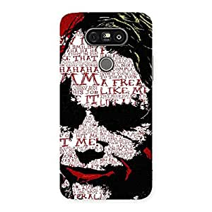 Delighted Insane Writing Back Case Cover for LG G5