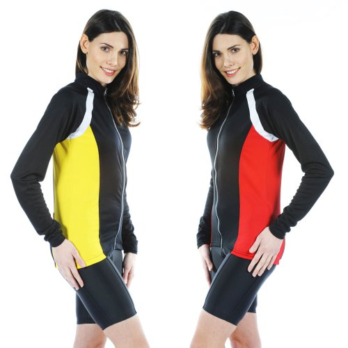 Buy Low Price Tenn Ladies Cool Flo High-Wicking Long Sleeve Cycle Cycling Jersey (B006GQTKSA)