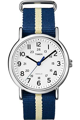 Timex - Orologio da polso, Uomo, Analogico, cinturino in tessuto bicolore