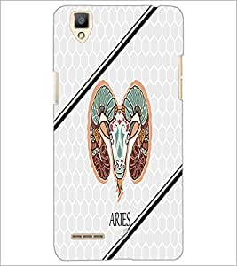 PrintDhaba Zodiac Aries D-4796 Back Case Cover for OPPO F1 (Multi-Coloured)