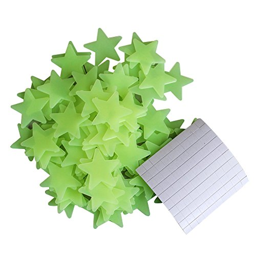2013Newestseller 100Pcs Star Glow In The Dark Decorative Wall Stickers Decals Decor For The Home front-512436