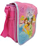 Disney Princess Pink Insulated Lunch Bag, Cinderella, Tiana, Belle, and Sleeping Beauty