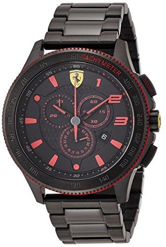 Ferrari 830142 - Reloj de pulsera hombre, acero inoxidable, color negro