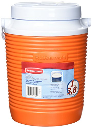 Rubbermaid Victory Jug Water Cooler, Orange, 1-gallon (FG15600611) (Water Jug Orange compare prices)