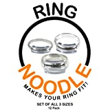 Ring Adjuster by RING NOODLE - 12 pack (4-Narrow, 4-Medium, 4-Wide) - Easy Ring Guard
