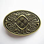 Oval Celtic Knots Bronze Vintage Mediaval Belt Buckle