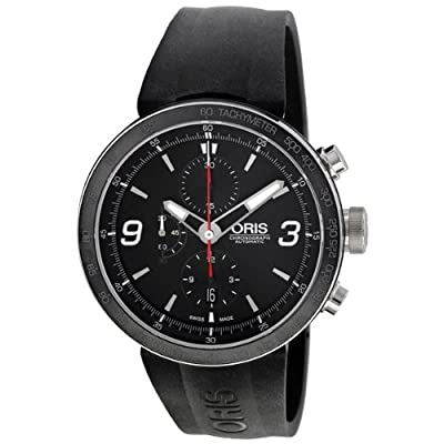 Oris TT1 Automatic Chronograph Black Rubber Strap Mens Watch 674-7659-4174RS