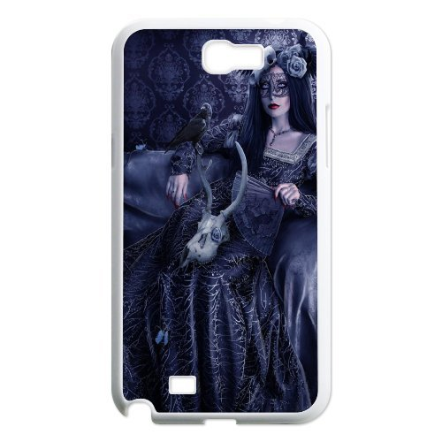 Samsung Galaxy Note 2 N7100 Gothic Girl Phone Back Case Personalized Art Print Design Hard Shell Protection Aq088768
